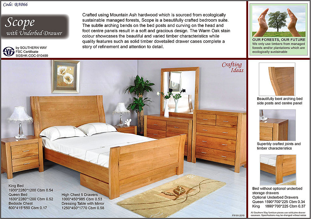 Southern way Mountain home bedroom furniture